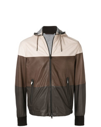 Ermenegildo Zegna Hooded Leather Jacket