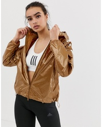 adidas Training Wind Jacket In Bronze