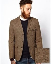 Men's Brown Wool Blazers from Asos | Men's Fashion