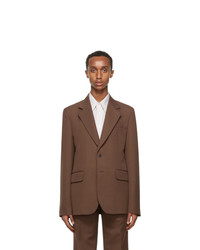 Lemaire Brown Slim Fit Jacket