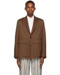 Ermenegildo Zegna Couture Brown Wool Achill Farm Blazer