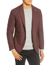 L.B.M. Fit Solid Wool Blend Sport Coat
