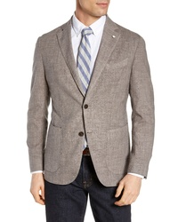 L.B.M. Fit Solid Wool Blend Sport Coat