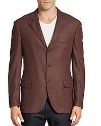 Brunello Cucinelli Wool Cashmere Three Button Blazer