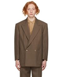 Fear Of God Brown Wool The Suit Jacket Blazer