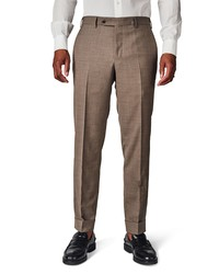 Zanella Curtis Solid Stretch Wool Trousers