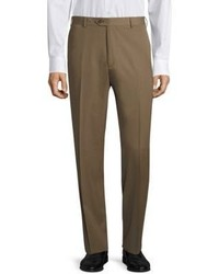 Santorelli Platinum Super 130s Regular Fit Gabardine Trousers