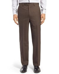 Berle Self Sizer Waist Wool Trousers