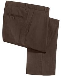 Barry Bricken Sharkskin Pants Stretch Wool
