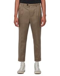 AllSaints Tallis Pleated Cotton Wool Trousers