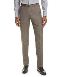 Ermenegildo Zegna Trofeo Classic Fit Tropical Wool Blend Trousers