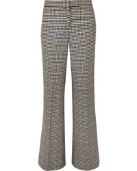 JW Anderson Houndstooth Wool And Cotton Blend Flared Pants