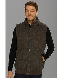 Stetson Pu Coated Wool Brown Glen Plaid Vest