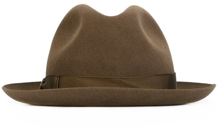 ... Brown Wool Hats Borsalino Trilby Hat 819af4c912a