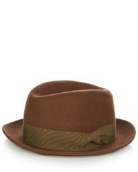 Giorgio Armani Fedora Wool Felt Hat