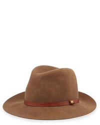 Floppy brim wool fedora hat pecan medium 694446