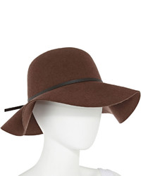 jcpenney Manhattan Hat Company Brown Floppy Wool Hat