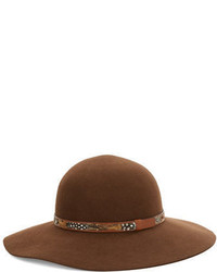 Kathy Jeanne Feather Accented Floppy Wool Hat
