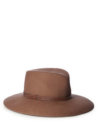 Eric Javits Leather Accented Wool Panama Hat