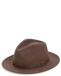 Messer ii felted wool fedora brown medium 801045