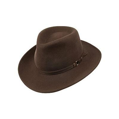 770c413b681a2 ... Olney Hats Crushable Wool Outback Hat Brown