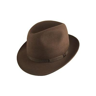 d603dbed8fa ... Olney Hats Newbury Fur Felt Fedora Brown