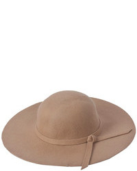 Choies Oversized Felt Fedora Hat In Camel