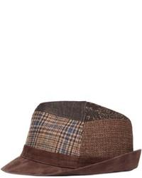 Etro Patchwork Wool Suede Brimmed Hat