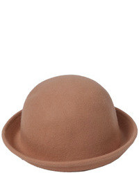 Choies Roll Brim Felt Cloche Hat In Camel