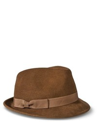 Merona Solid Fedora Hat With Bow Sash  Brown