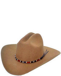 Western Brown Wool Felt Cowboy Hat With Concho Band