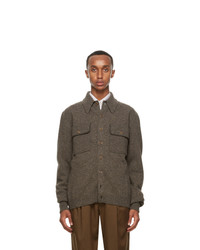 Lemaire Brown Overshirt Jacket