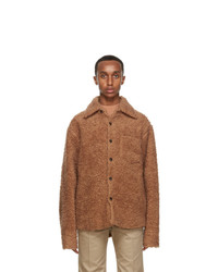 Marni Brown Teddy Wool Jacket