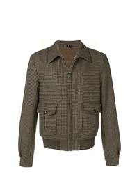 Lardini Tweed Zipped Bomber Jacket