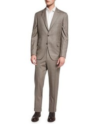 Brunello Cucinelli Traditional Two Piece Suit Brown