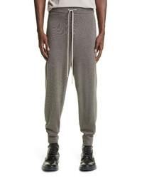 Rick Owens Drawstring Wool Blend Sweater Joggers
