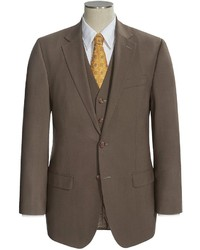 Ralph Lauren Lauren By Solid Suit Wool 3 Piece