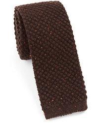 Eton Of Sweden Melange Popcorn Knit Tie