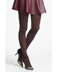 Nordstrom Everyday Opaque Tights Brown Java Plus