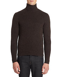 Saks Fifth Avenue BLACK Cable Knit Cashmere Sweater