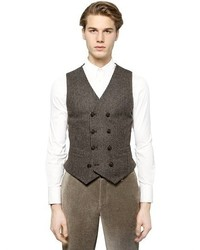 Giorgio Armani Boucl Wool Blend Jacquard Vest
