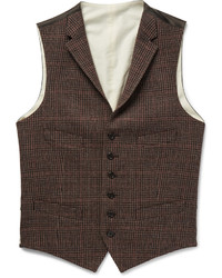 Checked wool waistcoat medium 840219