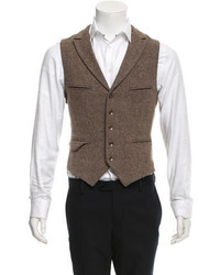 rag & bone Wool Notch Lapel Vest
