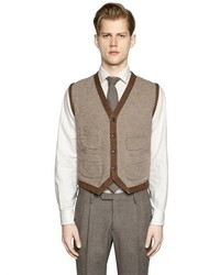 Boglioli Wool Silk Blend Sweater Vest