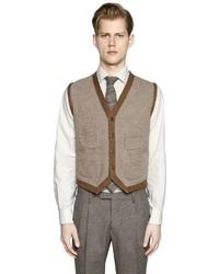 Boglioli Wool Silk Blend Sweater Vest