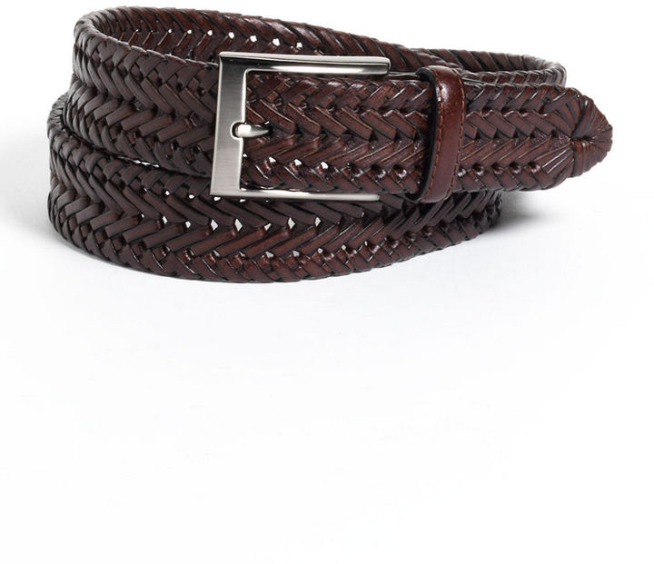 brown woven belt black brown 1826 woven leather belt