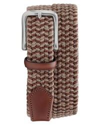 Brown Woven Canvas Belt