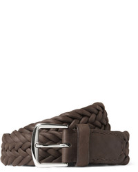 Loro Piana 35cm Brown Delon Woven Leather Belt