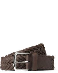 Loro Piana 35cm Brown Delon Woven Leather Belt