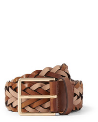 Paul Smith 35cm Brown Woven Leather Belt